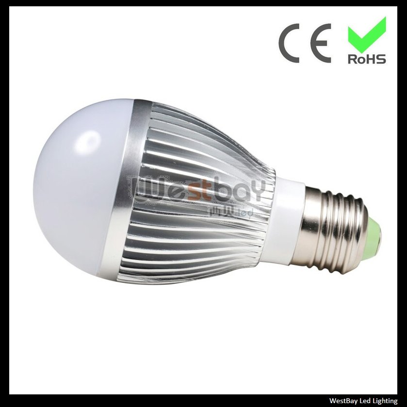 Series three led bulbs with factory price, 5*1W led bulbs for home and office lighting high performance with low price, E27 base<br><br>Aliexpress