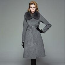 Fox fur collar womens