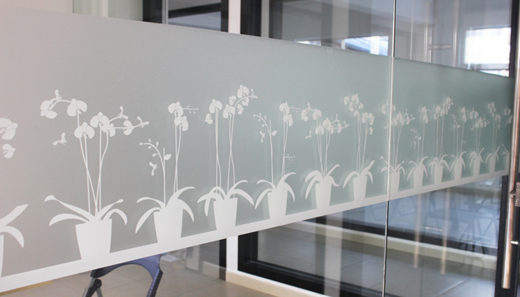 vinyl static cling white frosted privacy decorative flowerpot pattern  stained glass window film for bathroom shower. Bathroom Window Vinyl