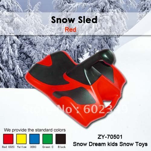 FREE SHIPPING Hot Sale 100% non toxic Kids Winter Plastic Snow Ski Sled  (Mix/4PCS/CTN)