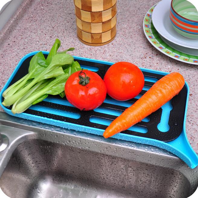 house dish rack plastic single-layer dry water holder non-folding table type bowl fruit vegetable shelf bar kitchenware Q-129(China (Mainland))