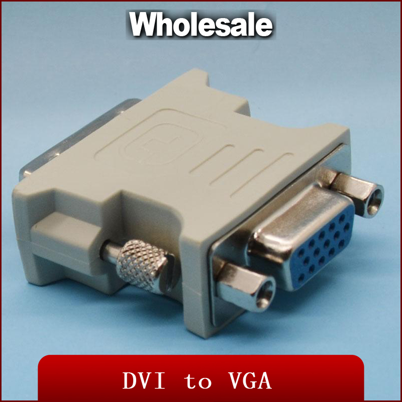 Gold plated ATI DVI vga connector DVI-I(A/D) VGA male female Adapter Convert Cable HDTV TV - RedStar Digital Co., Ltd. store