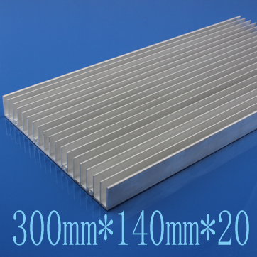 2pcs/lot 300mm*140mm*20mm High Power Silver Aluminum Heat Sink With High Quality On Sale Free Shipping(China (Mainland))