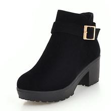 Karinluna 2019 chất lượng hàng đầu trang sức giọt lớn kích thước 48 chun gót mắt cá chân Giày Nữ Giày Nữ người phụ nữ thêm sang trọng mùa đông Giày boots người phụ n(China)