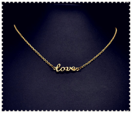 New fashion jewellery love choker necklace nice gift for women girl wholeslae N918(China (Mainland))
