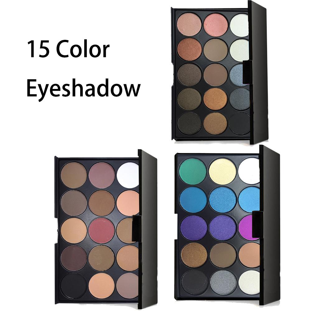 pro 15 colors matte glitter eyeshadow palette sombras. Black Bedroom Furniture Sets. Home Design Ideas