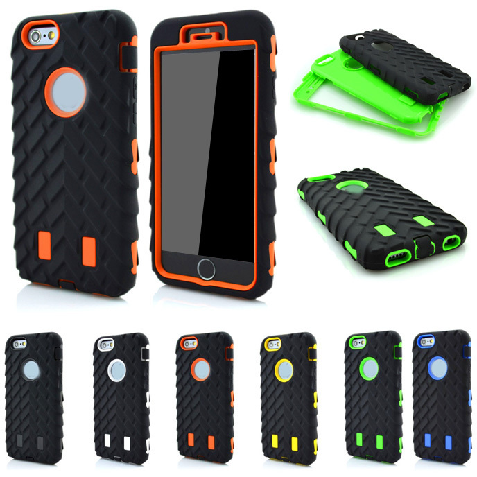 Coque apple iPhone 5C Case 4.0 inch Dual Layer Shockproof 2 1 Tire Style Silicone + Hard Plastic Armor Hybrid Cover - OHMG store