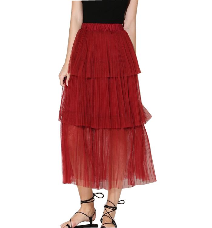 2016 new high quality fashion gauze skirts