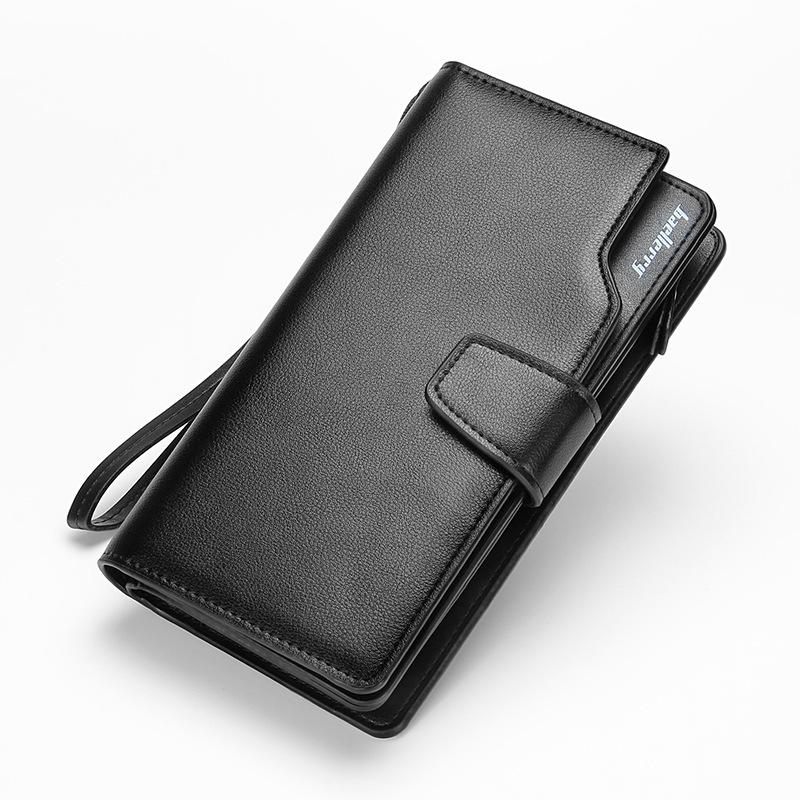 Гаджет  2015 famous brand men genuine leather zipper large capacity long clutch wallet, male solid burglar robbed large space soft purse None Камера и Сумки
