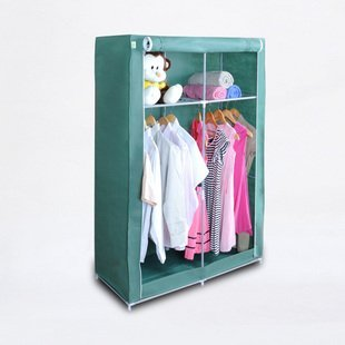 Free shipping(EMS)/Wardrobe closet/Storage cabinet/Material: Steel pipe and Nov-woven fabric/Size:156*109*45cm