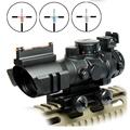 Airsoftsports Gun Riflescope 4x32 Rifle Scope Reticle Fiber Optic Sight Scope Rifle airsoft Gun Hunting airsoftsports