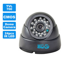 JOOAN 1/3 color  CMOS 700TVL dome mini cctv camera,HD indoor black 36 ir leds day/night security home video surveillance camera