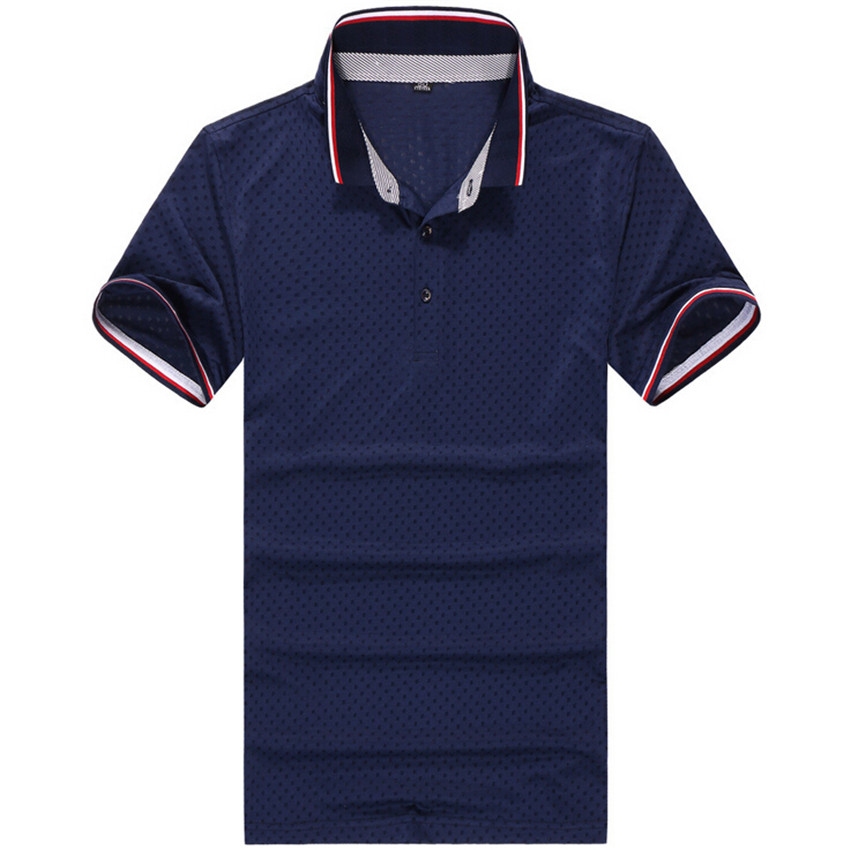 Blue brand new men 39 s polo shirt men cotton short sleeve for Plus size golf polo shirts