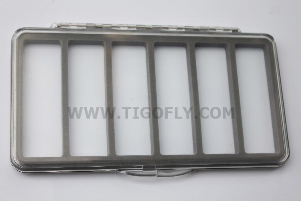 Free Shipping!! Ultra Thin Super ABS Trout Fly Fishing Box 185 x96 x13 mm(China (Mainland))