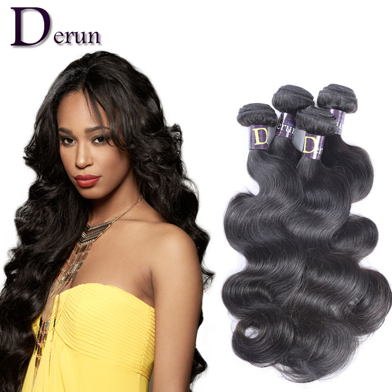 7A Peruvian Virgin Hair Body Wave Human Weave Bundles Unprocessed Weft Extensions Aliexpress UK - China Derun Factory store
