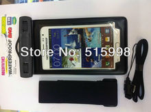 phone waterproof cover, waterproof bag for Samsung GALAXY Note II N7100 9220 HTC SONY and 5.3 inch(China (Mainland))