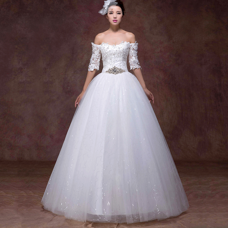 Buy sexy lace wedding dresses 2015 for Plus size wedding dress with color