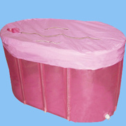 Plastic portable bathtub for adults
