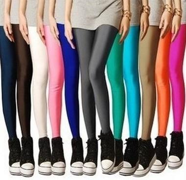 Мода Sexy Твердые Конфеты леггинсы Плюс Большой Размер женщин Леггинсы супер натяжные Повседневная фитнес балета танцы брюки легинсы