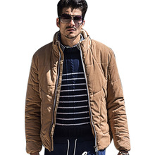 Size M-3XL New Fashion Thick Design Casual Slim Fit Stand Collar Male Wadded Parka Winter Jacket Men D58