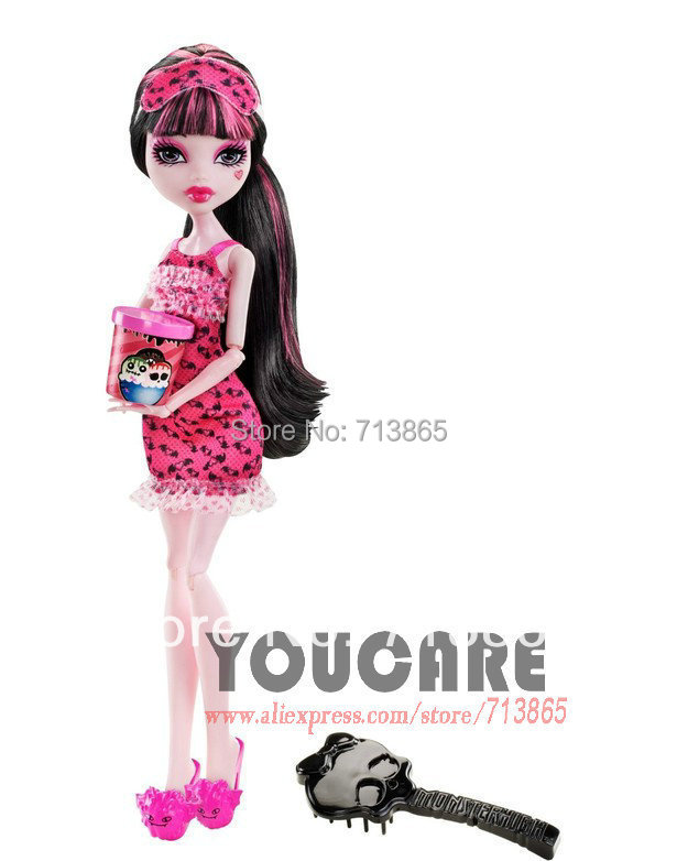 Monster High Dead Tired Draculaura Doll, Genuine Original Monster High Doll,Free shipping X4515(China (Mainland))