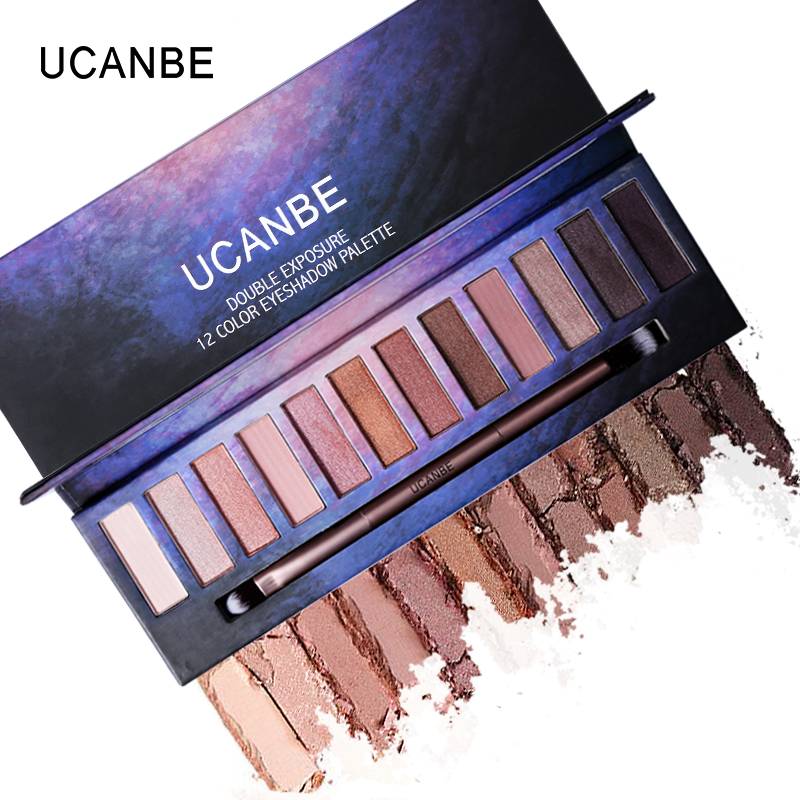 UCNABE Brand 12 Color Nude PRO Eye Shadow Palette Perfect Golden Sleek Smoky Eyeshadow Shimmer Matte Naked Palette Makeup Set(China (Mainland))