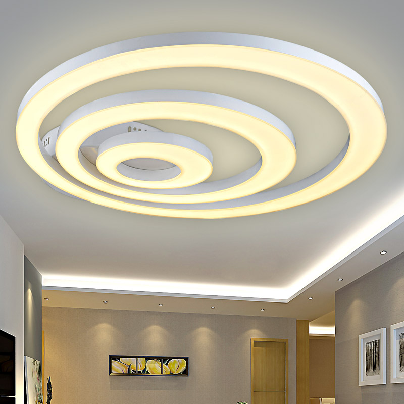 Creative modern led ceiling lights for living room bedroom remote control dimming deckenleuchten led ceiling fixtures abajur(China (Mainland))
