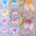 Women Female Sunblock Warm Good Selling Gradient Color Printed Wrap Shawl Pashmina Scarves One Size
