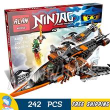 24Bela 06026 Phantom Ninja Sky Shark Model Building Blocks Minifigures Lloyd Flintlocke Bricks ToysCompatible Lego - Baby Rhythm store