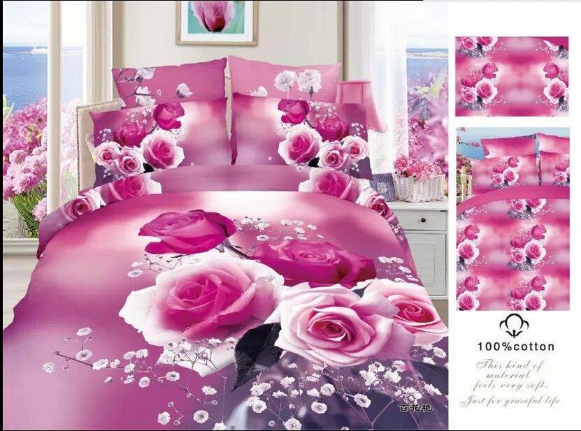 Full queen 100%cotton Fitted Sheet/pink bedding/girls ...