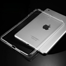 Silicon Case For iPad Air 2 Air 1 Clear Transparent Case For iPad 2 3 For iPad 4 Mini Mini 4 Soft TPU Back Cover Tablet Case(China (Mainland))