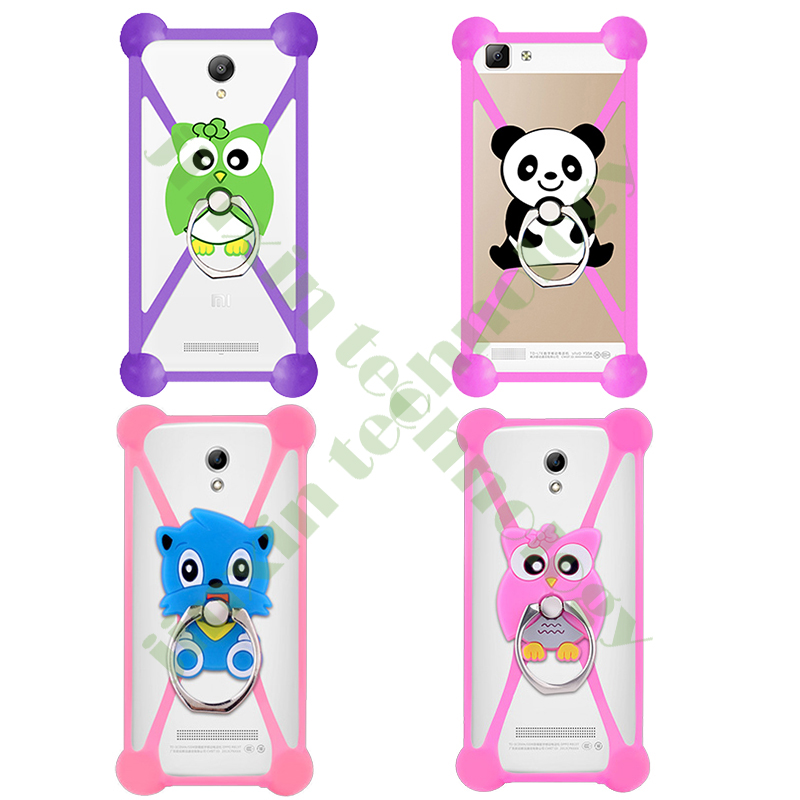 3.5 - 5.5 Inch 2016 Cartoon Ring Stand Soft Silicone Case For BlackBerry Priv Phone Bumper Frame Cover(China (Mainland))