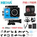Hieha Action Camera Deportiva F60 F60r Allwinner V3 4k 30fps Wifi 2 0 170d Go Helmet