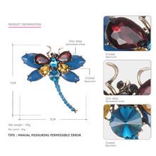EManco 3 Colori Animale Sveglio & Insetto Libellula Spille Spilli per Le Donne Blu di Cristallo Spilla Accessori di Abbigliamento Gioelleria raffinata e alla moda(China)