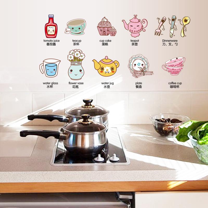 Refrigerator Kitchen Cabinet Creative Heart Stickers Transparent Color Stickers Small Decorative Fashion Creative Home(China (Mainland))