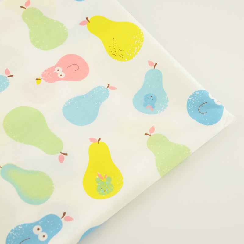 100 cotton material lovely pears different colours for Children s material sewing