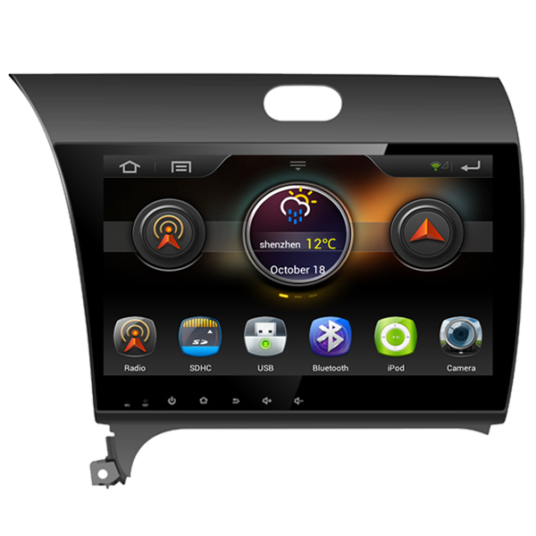 Super 10.1 Inch 1024*600 Capacitive Touch Screen Car Stereo For Kia K3 With Pure Android 4.1 Built in Wifi GPS BT Radio No Disc(China (Mainland))