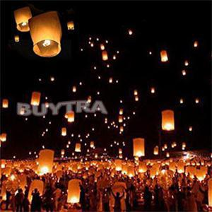 DIY Chineses Sky Paper Lanterns Lamps Flying Wishing Lantern Decor For Outdoor Party Decoration Balloon UFO(China (Mainland))