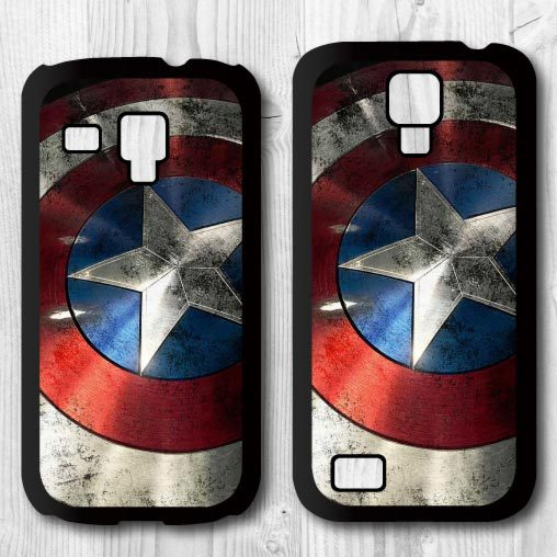 Hero Captain America Shield Pattern Protective Cover Case Samsung Galaxy S4 mini S3 Global Drop Shipping - Babe Supply store