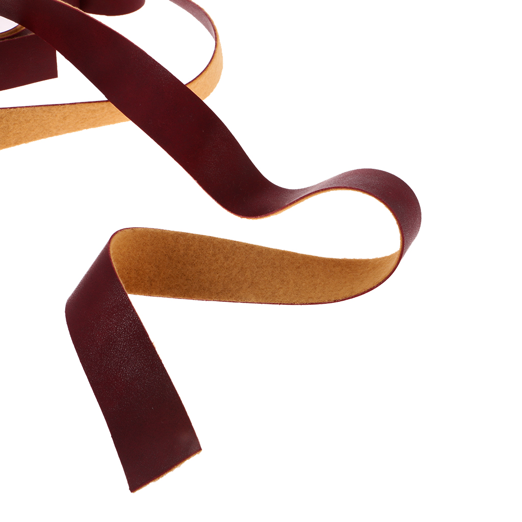 10 Meters DIY PU Leather Crafts Straps Strips DIY Sewing Craft 2cm Wine Red