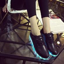 yeezy shoes 7Colors ladies&male luminous casual shoes unisex led glow shoe men&women fashion USB rechargeable light led shoes(China (Mainland))