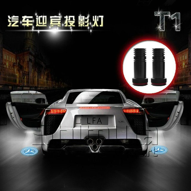 5W Amercia Cree! 65mm*24mm 3D Projector LED laser logo light Ghost Shadow light for all car logos stock-free by DHL/FEDEX/UPS/EM