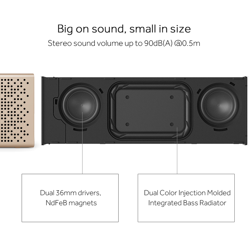 original xiaomi bluetooth speaker micro sd aux in handsfree call stereo portable speaker bluetooth