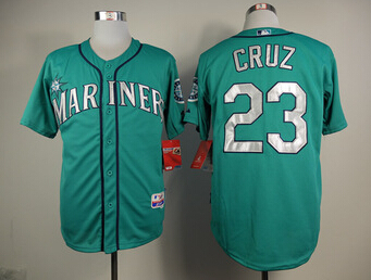 Seattle Mariners Mens Jerseys #23 Nelson Cruz Green Baseball Jersey1258(China (Mainland))