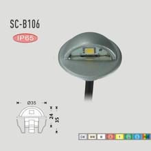 7 couleurs demi - lune étanche IP65 LED souterraine lampes en acier inoxydable escalier lumière DC12V 0.4 W SMD 5050 LED éclairage de jardin(China (Mainland))