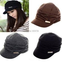 1PC Bulk NEW Korean Unisex Mens Women's Fashion Folds Beanie Hat Cotton Hat Skull Ski Caps Christmas Gift Free(China (Mainland))