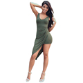 2016 Women Vestidos Casual Bodycon Club Summer Bandage Vintage Dress Party Evening Robe Sexy Army Green