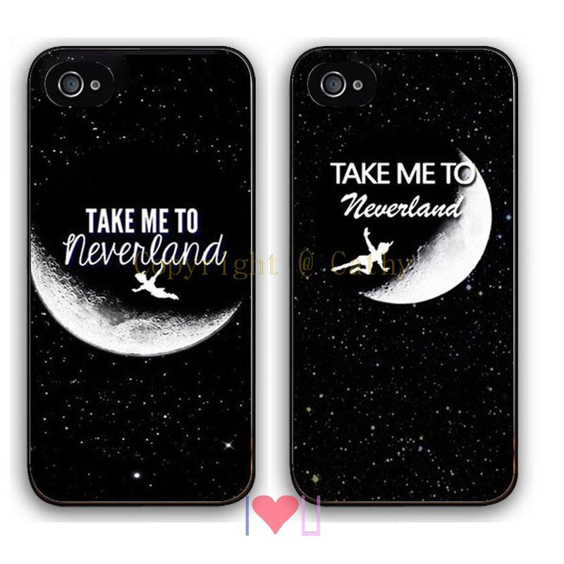 Take Neverland Couple BFF back skins cellphone case cover fits iphone 4/4s 5/5s SE 6/6s plus ipod touch4/5/6  -  I LOVE U store