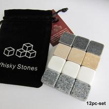Drixon 100% Alami Wiski Batu Menyeruput Es Cube Wiski Batu Wiski Batu Cooler Hadiah Pernikahan Nikmat Natal Bar(China)