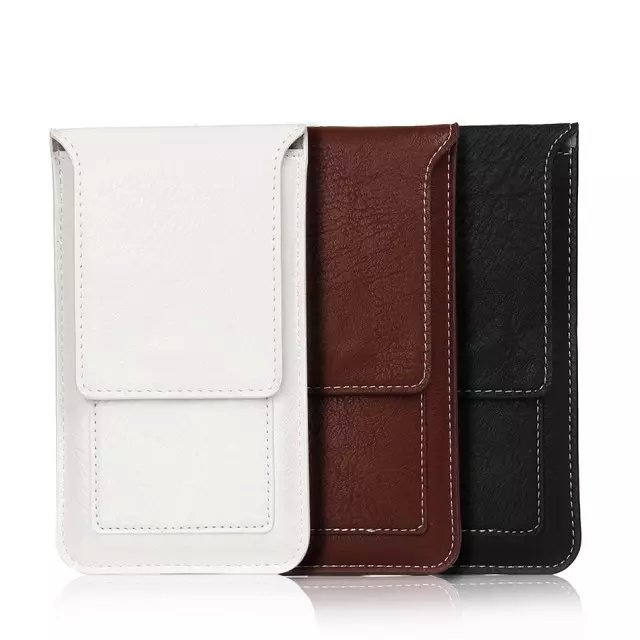 Fashion Luxury Leather Wallet universal mobile phone pockets holster Cover Case for iPhone 4/5/6 for Samsung S3/4/5/6 Note2/3/4(China (Mainland))